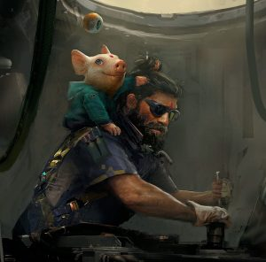 Recently released concept art for the upcoming Beyond Good and Evil